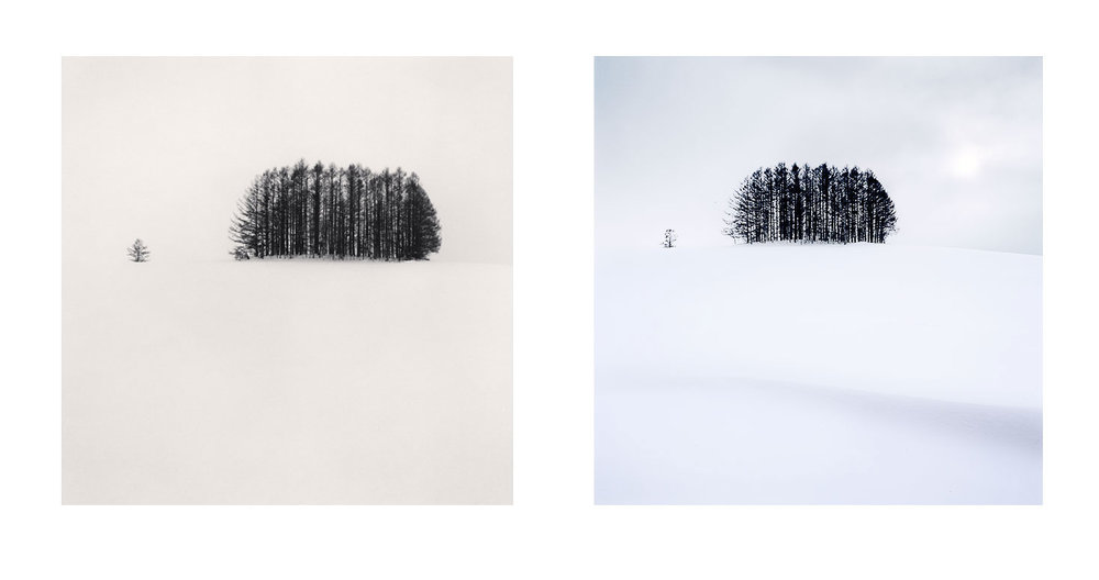 Image Left: © Michael Kenna 2007 Image Right: © Bruce Percy 2017  Following in the footsteps of one of my heroes, even now.