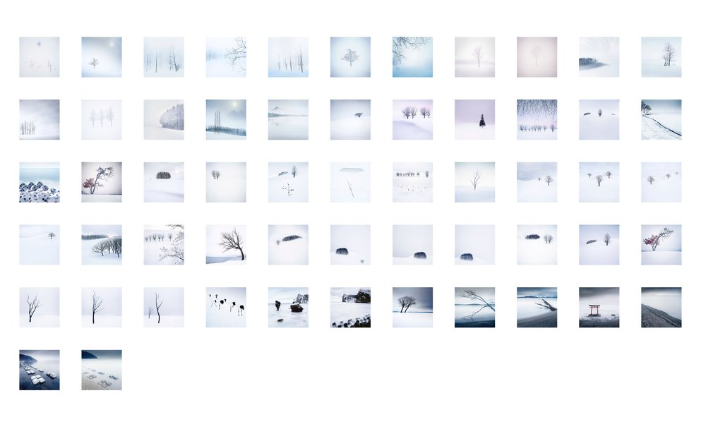 Playing around with sequencing of my Hokkaido photographs.