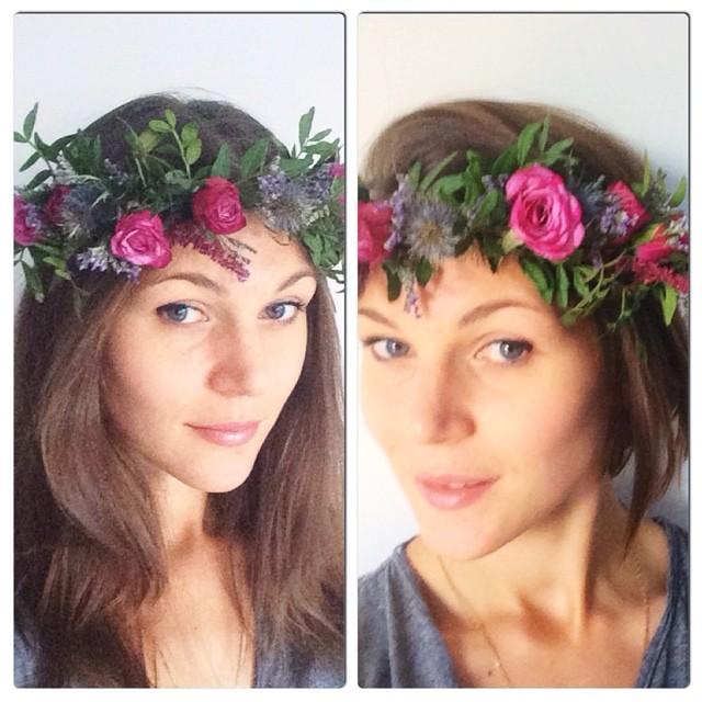 """Couronne des fleurs de """"fleur désir"""""""
