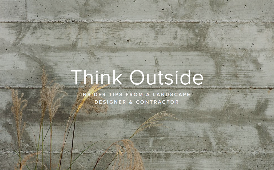 Think Outside An Insider Guide To All Things Landscape Design