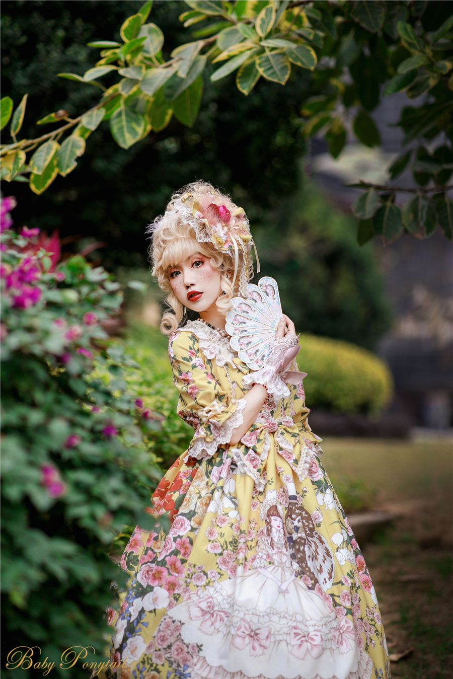 Baby Ponytail_Model Photo_Polly's Garden of Dreams_OP Yellow_Kaka_03.jpg