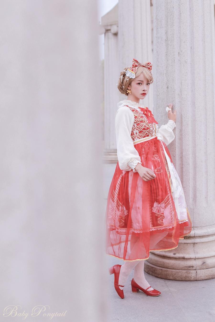 Baby Ponytail Masquerade Ballet Red JSK_谢安然_02.jpg