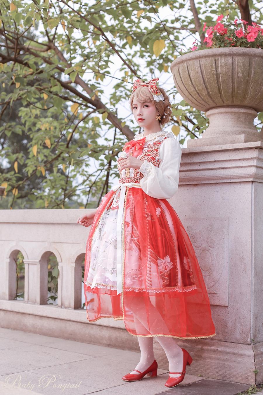 Baby Ponytail Masquerade Ballet Red JSK_谢安然_01.jpg