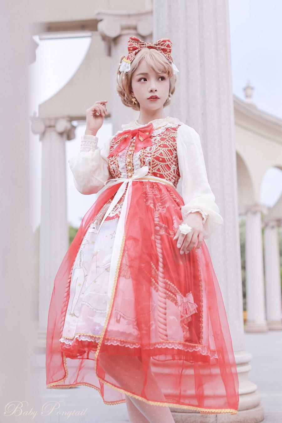 Baby Ponytail Masquerade Ballet Red JSK_谢安然_03.jpg