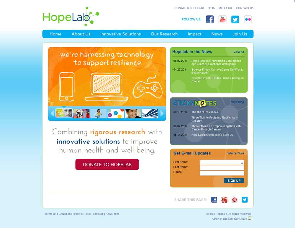 HopeLab.org Original Site