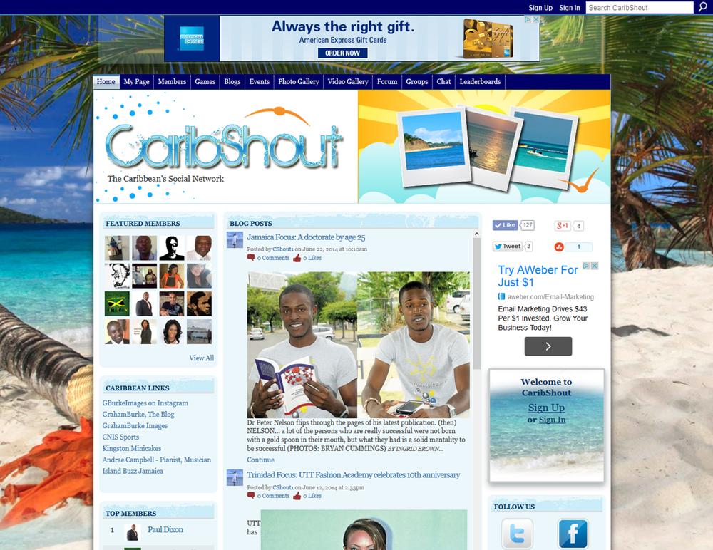 CaribShout - Ning 2.0 Design