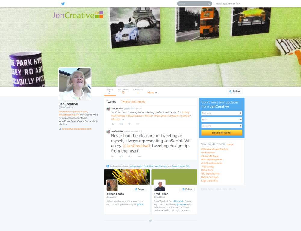 JenCreative - Twitter Design