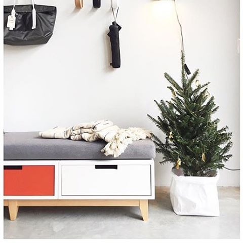 One of the things the Toorganize bin loves to do-- hide unsightly pots and stands.  And it loves Christmas trees. Thank you @portofraleigh for sharing! ❤️🎄❤️ . . . #shoplocal #shopsmall #portofraleigh #raleigh #northcarolina #homedecor #christmas #tree #instagood #loveit #yay.