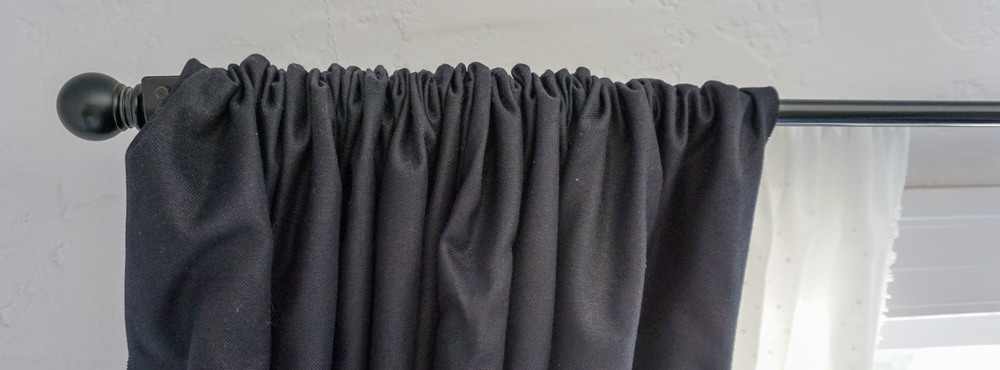 Let your dry cleaner handle the curtains since pressing the wrinkles out can be laborious.
