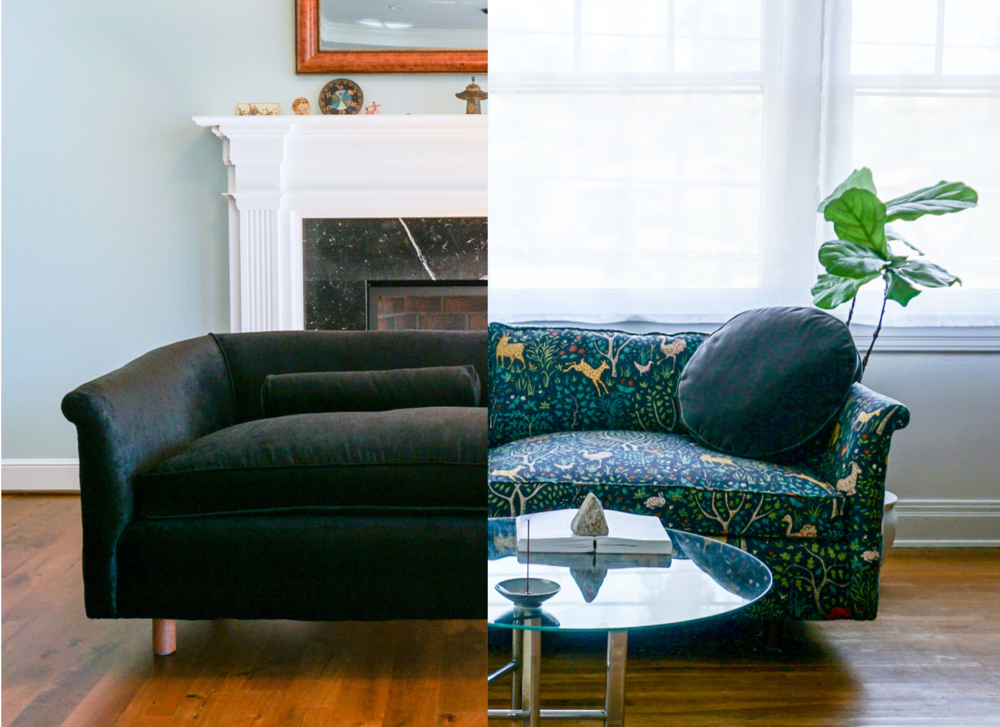 The owners of these couches were happy to pay for well made green upholstery. Click and order your custom couch today!