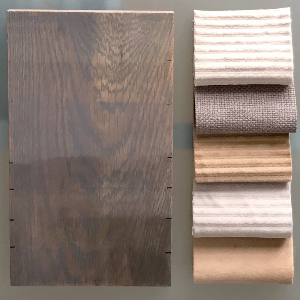 Better to view wood and fabric together in different lighting.