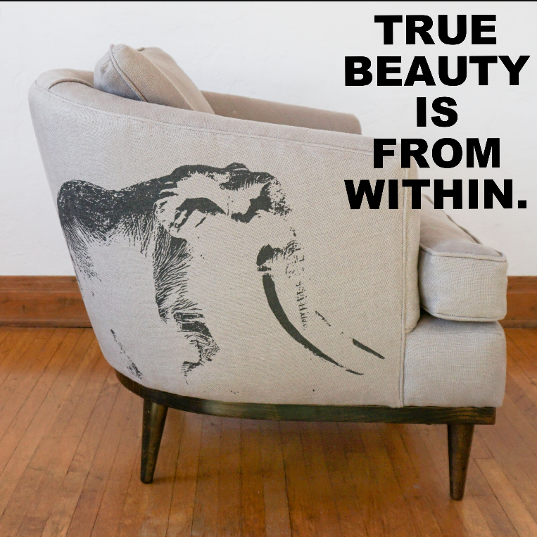 Click through to custom order your own  'Ghost of Satao' chair.
