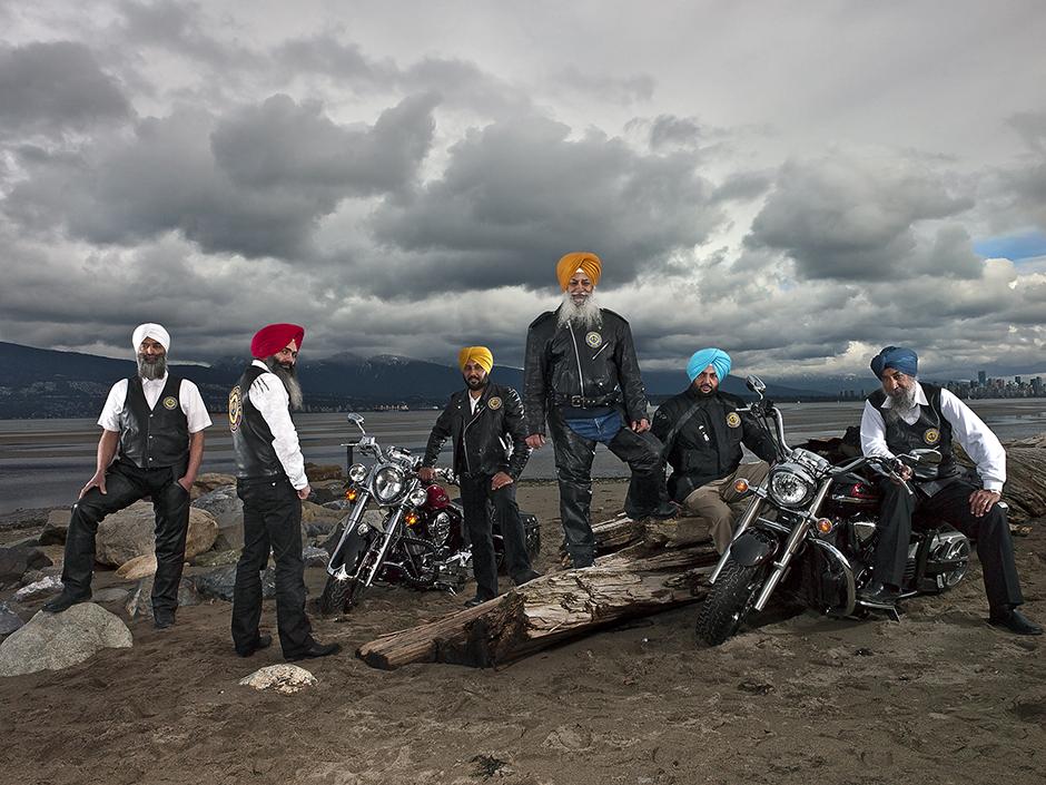 Sikh motorcycle club – Vancouver, British Columbia. © Naomi Harris