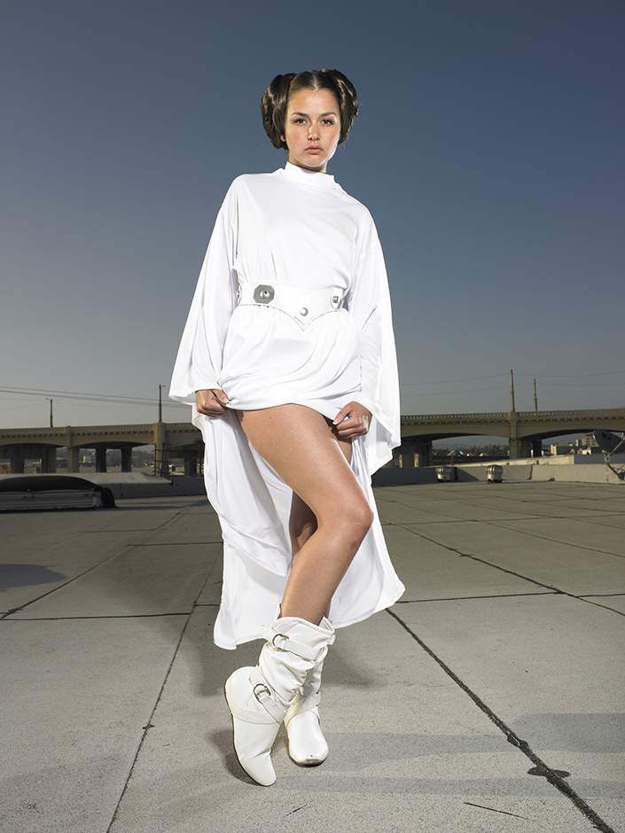 "Allie Haze as Princess Leia in ""Star Wars XXX""/24-year old porn actress /Los Angeles, CA/May 2011/shot for Bizarre Magazine. © Naomi Harris"