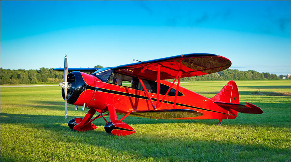 WACO EGC-8, first completed on 22 September, 1938. Fully restored to flying condition by Rare Aircraft of Faribault, Minnesota.©John Slemp