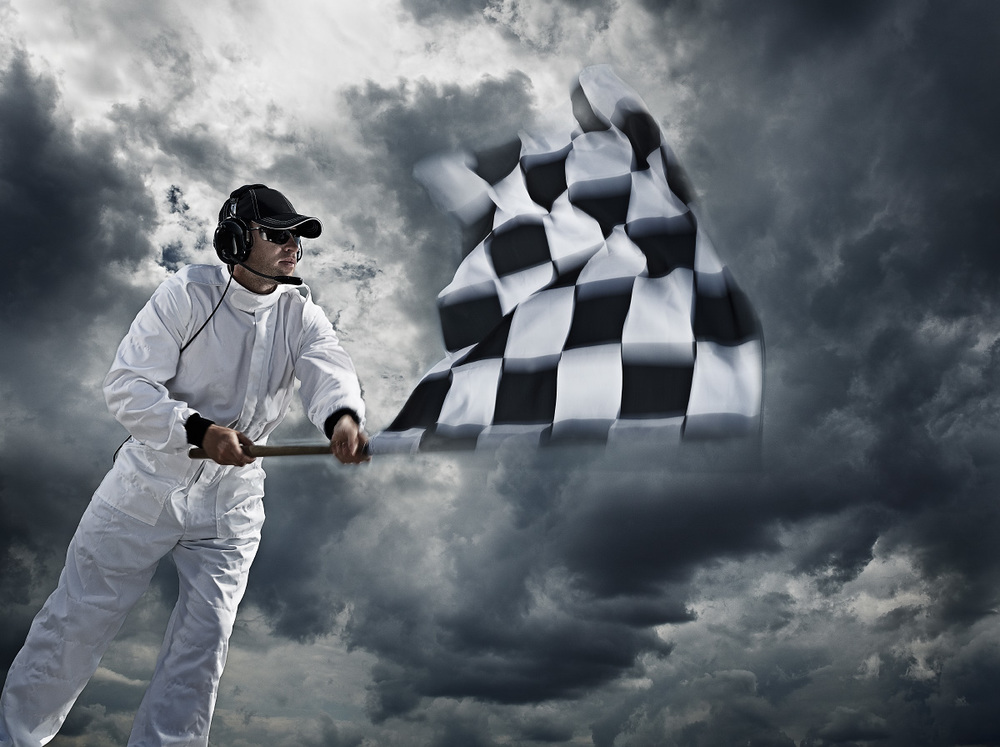 Title: Chequered flag. Client: Mercedes-Benz. © Julian Calverley