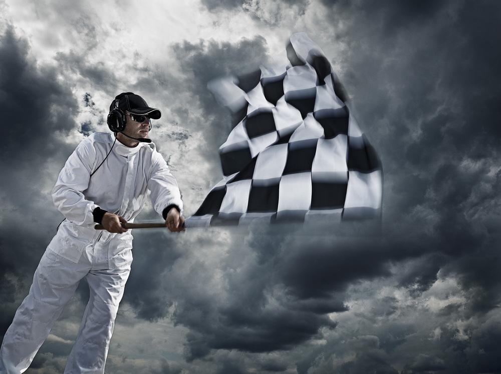 Title: Chequered flag. Client: Mercedes-Benz. © Julian Calverley