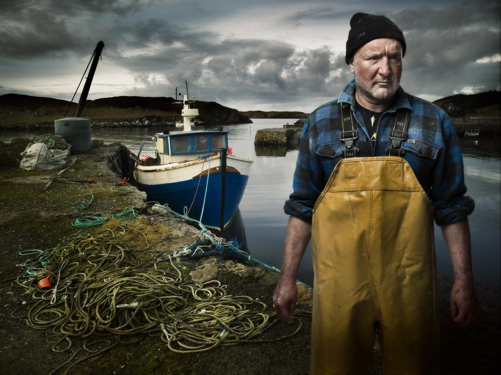 Title: People in Landscape series. Fisherman, Isle of Harris. Client: Personal. © Julian Calverley