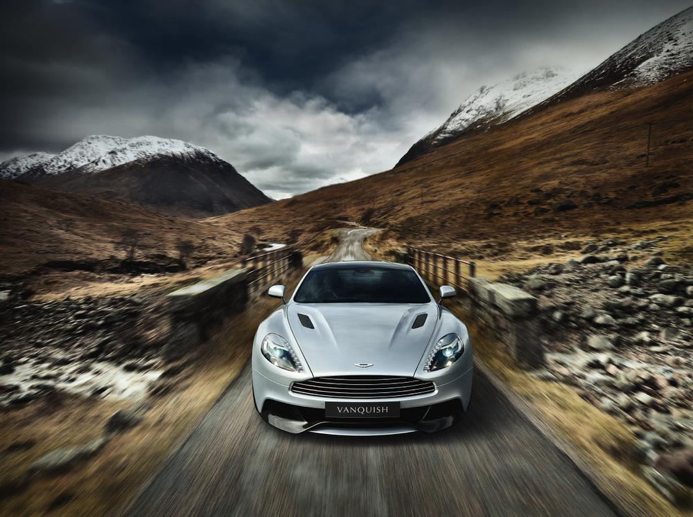 Title: V12 Vanquish, Glen Etive. Client: Aston Martin. © Julian Calverley