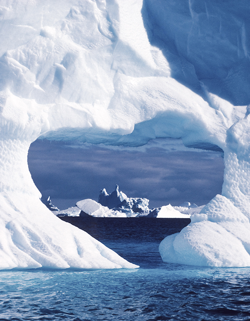 Heart-shaped iceberg near Peter First Island, Antarctica 1997 © Daisy Gilardini