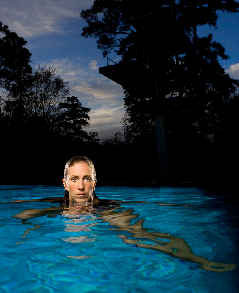Olympic diver Laura Wilkinson at the Woodlands Athletic Club on Dec. 21, 2007. © Robert Seale