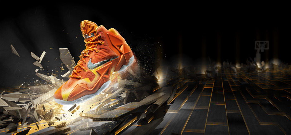 Lebron 11 Forging Iron. Original shoe photography by Ryan Unruh (http://ryanunruh.com/) 3d illustration© Danklife/Daniel Kopton