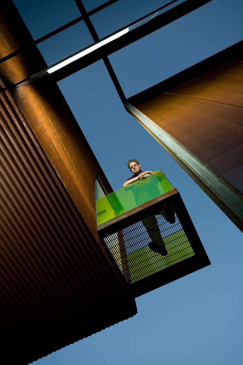 Architect Matthew Trzebiatowski at his home, Phoenix, Arizona© Danny Turner