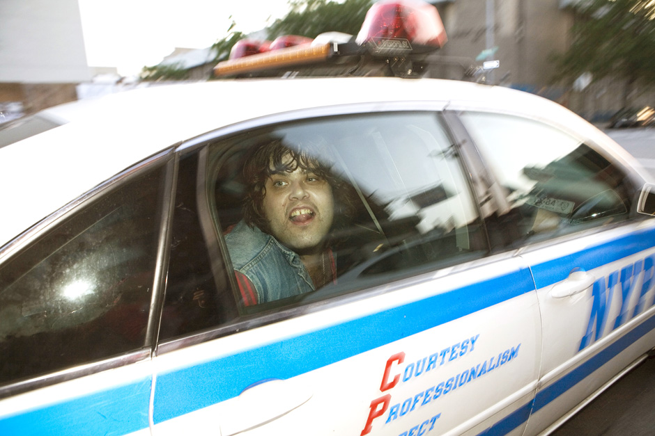 Andy Animal of Stalkers getting arrested in Williamsburg Brooklyn, 2008 © Jackie Roman