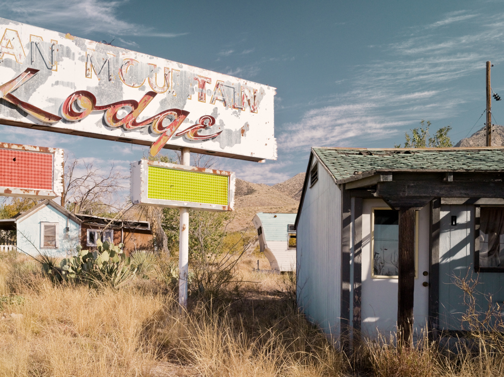 Organ Mountain Lodge was a popular stopping point in the days of the first space era, located on the mountains above Las Cruces close to the White Sands missile base and NASA's Las Cruces base.© Paul Freeman