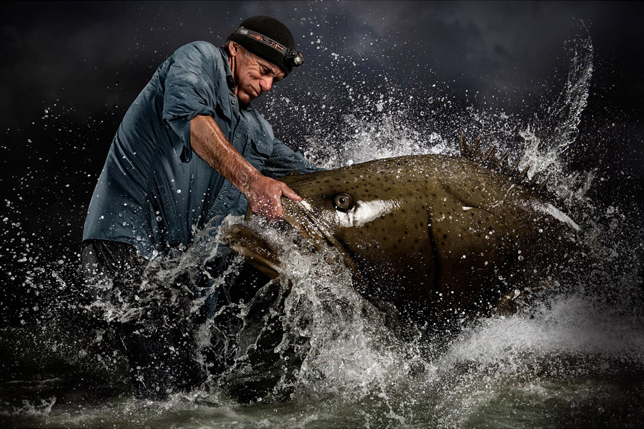 River Monsters host Jeremy Wade photographed by Blair Bunting. © Blair Bunting