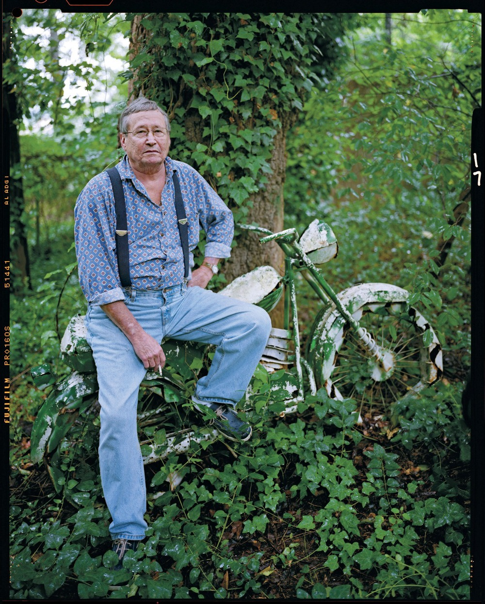 In 2008, Garden & Gun had the rare opportunity to photograph writer Barry Hannah at his home in Oxford, MS. Photographer Erika Larsen completely nailed it with this portrait taken behind his house. He passed away a year and a half later. © Erika Larsen
