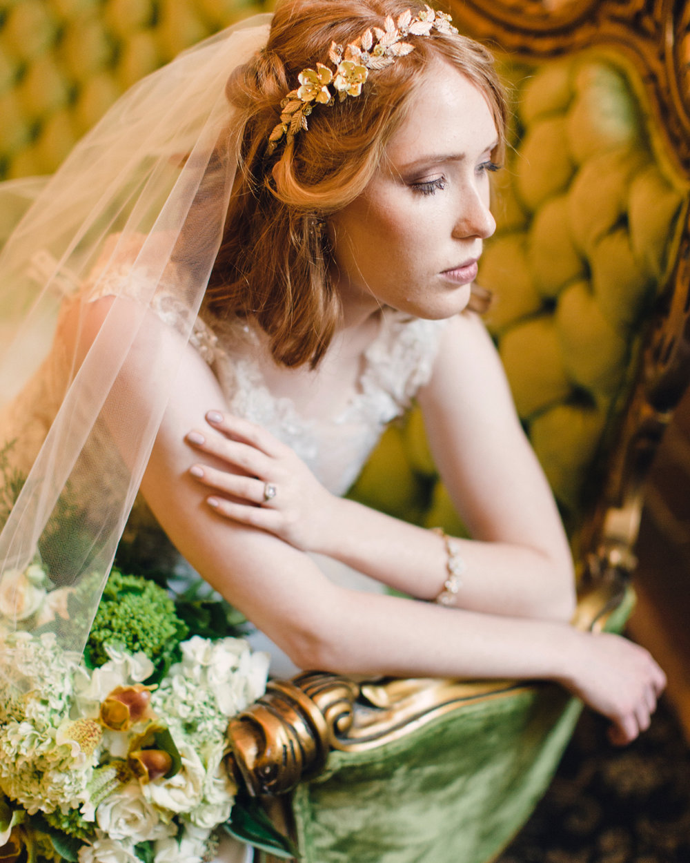 Natural Romantic Emerald Styled Photoshoot Hair Makeup