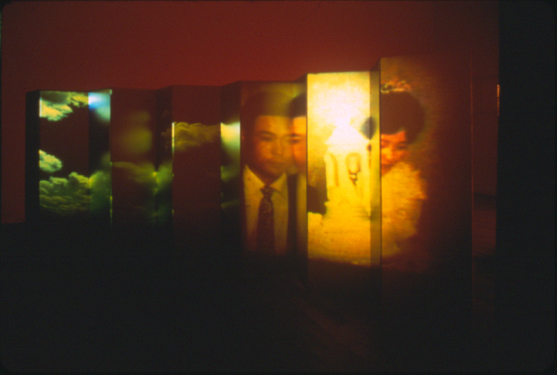 4 | 1999 - The Wedding - 68%22 x 200%22 - Byoobu Screen with Gold Leaf Paper.jpg