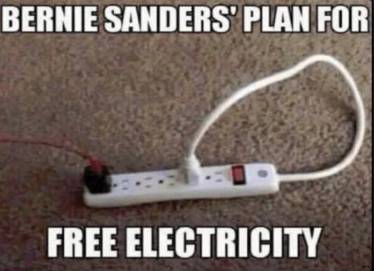 Bernie's Free Electricity