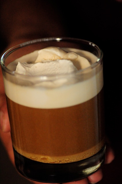 With the left over cream - make a coffee rum concoction