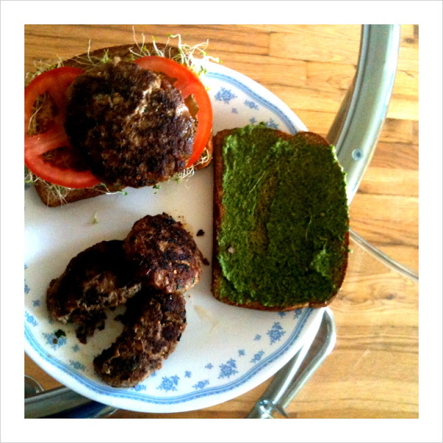 Serve on some lovely whole grain bread, with pesto or mint chutney, some slices of tomatoes, and alfa alfa sprouts.