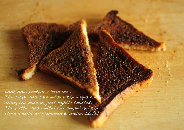 The right way of making cinnamon toasts