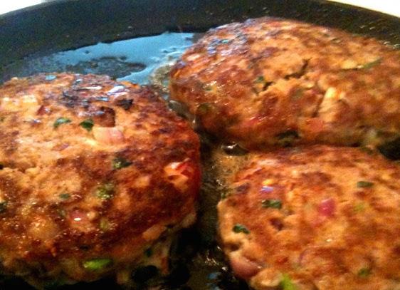 Juicy, succulent lamb burgers. A super summer Sunday lunch treat