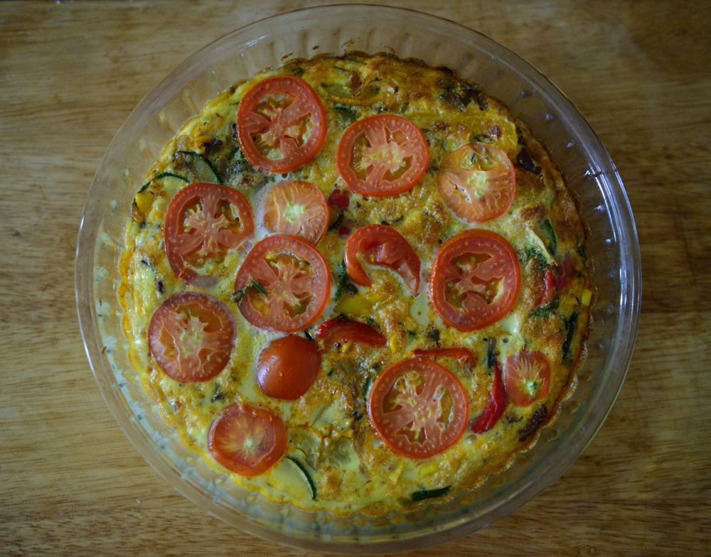 A frittata roughly translates as egg cake