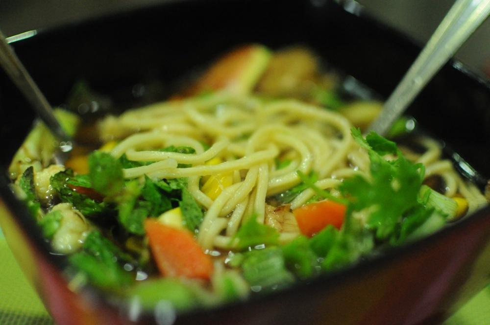 A light noodle broth