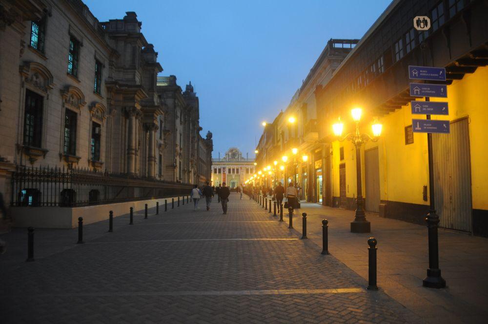 The street next to the Palace leading to Bar Cardona