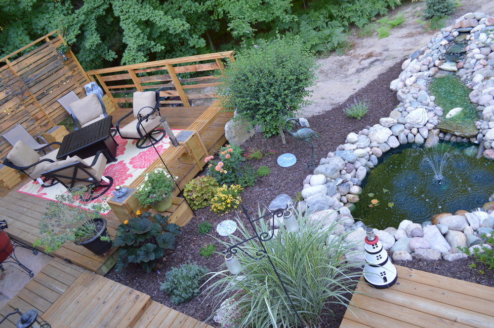 Relax in the backyard oasis