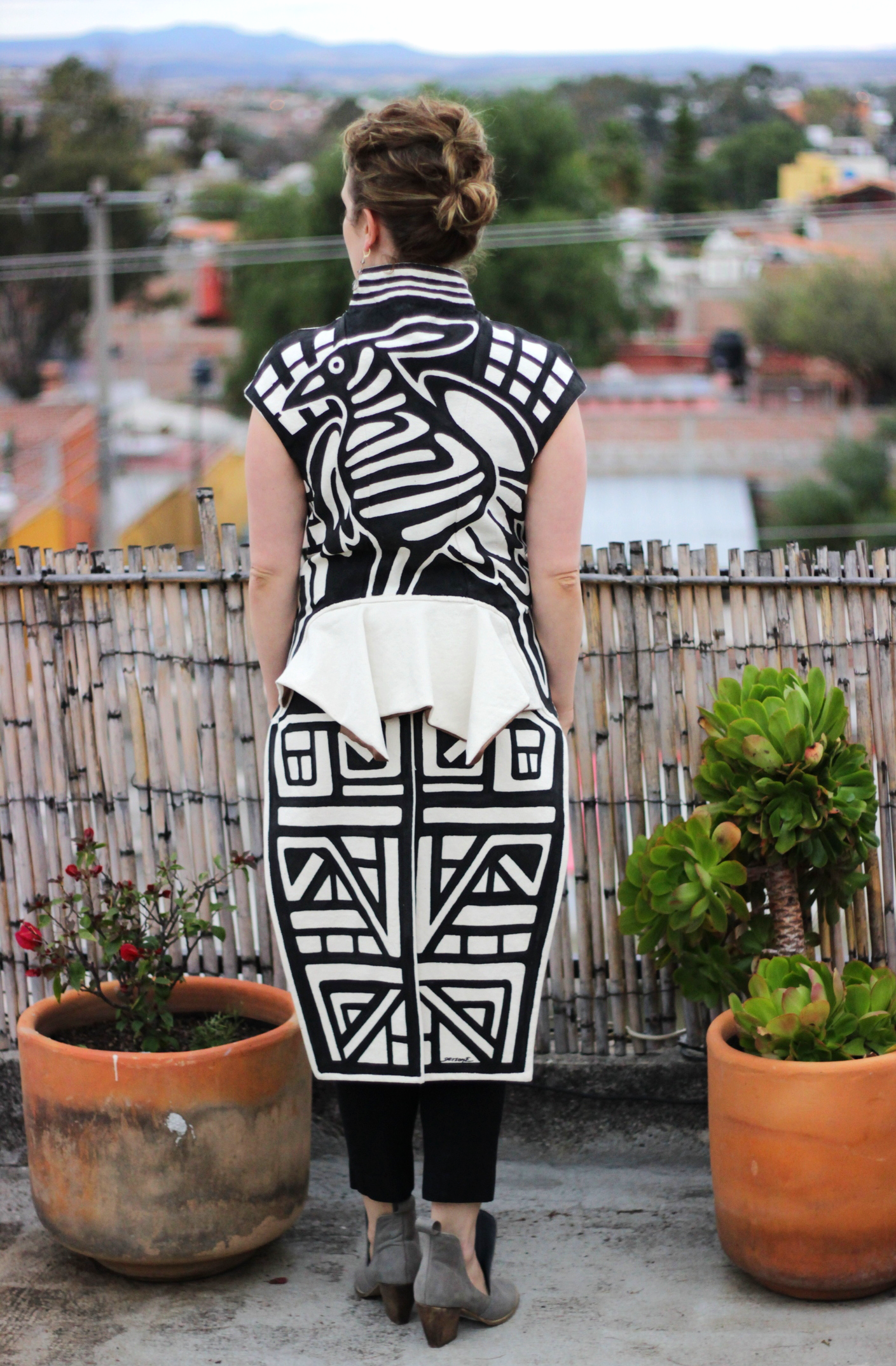 hecho en mexico, hand-painted jacket on belle meets world blog