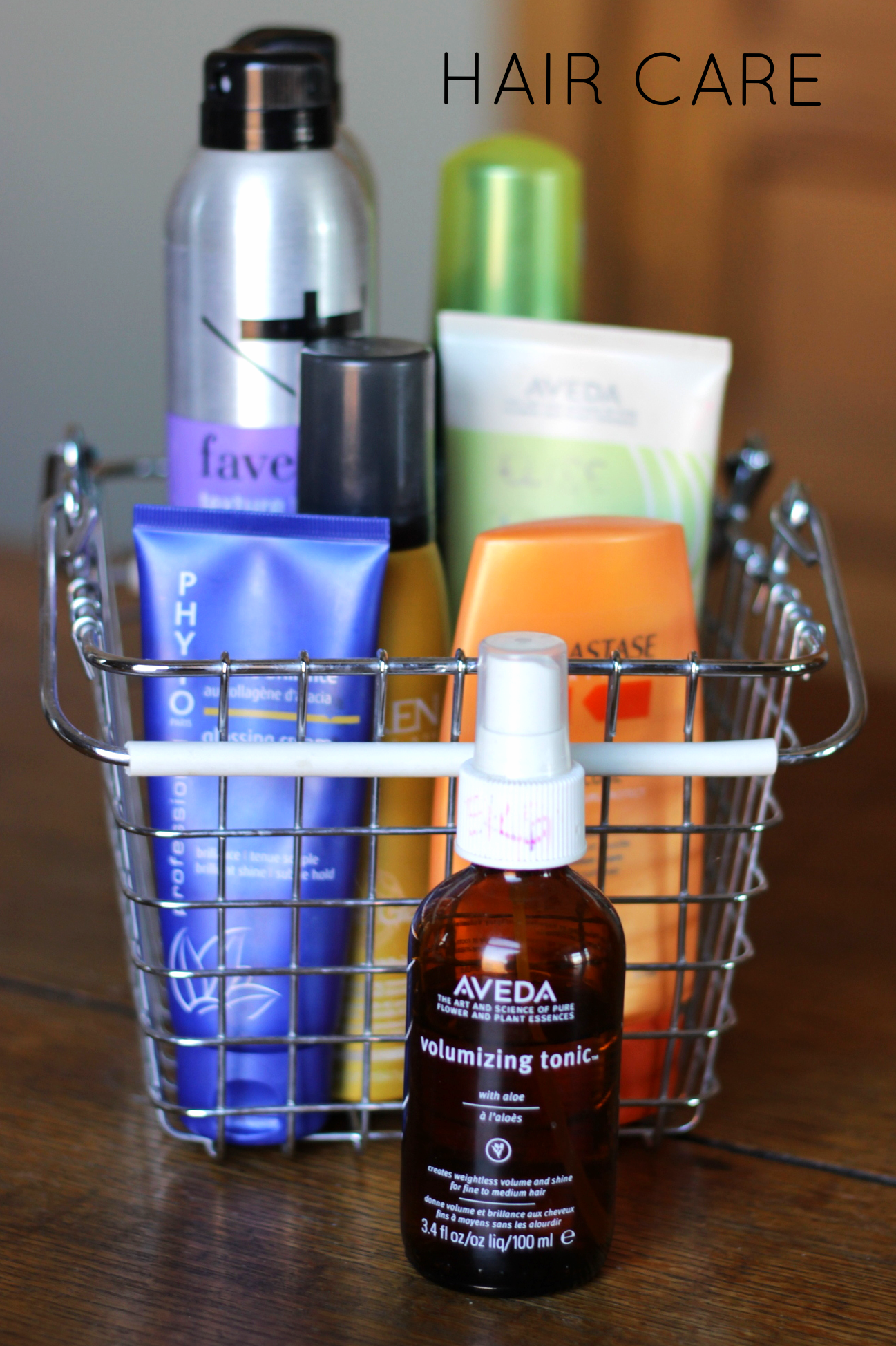 hair care storage on belle meets world blog