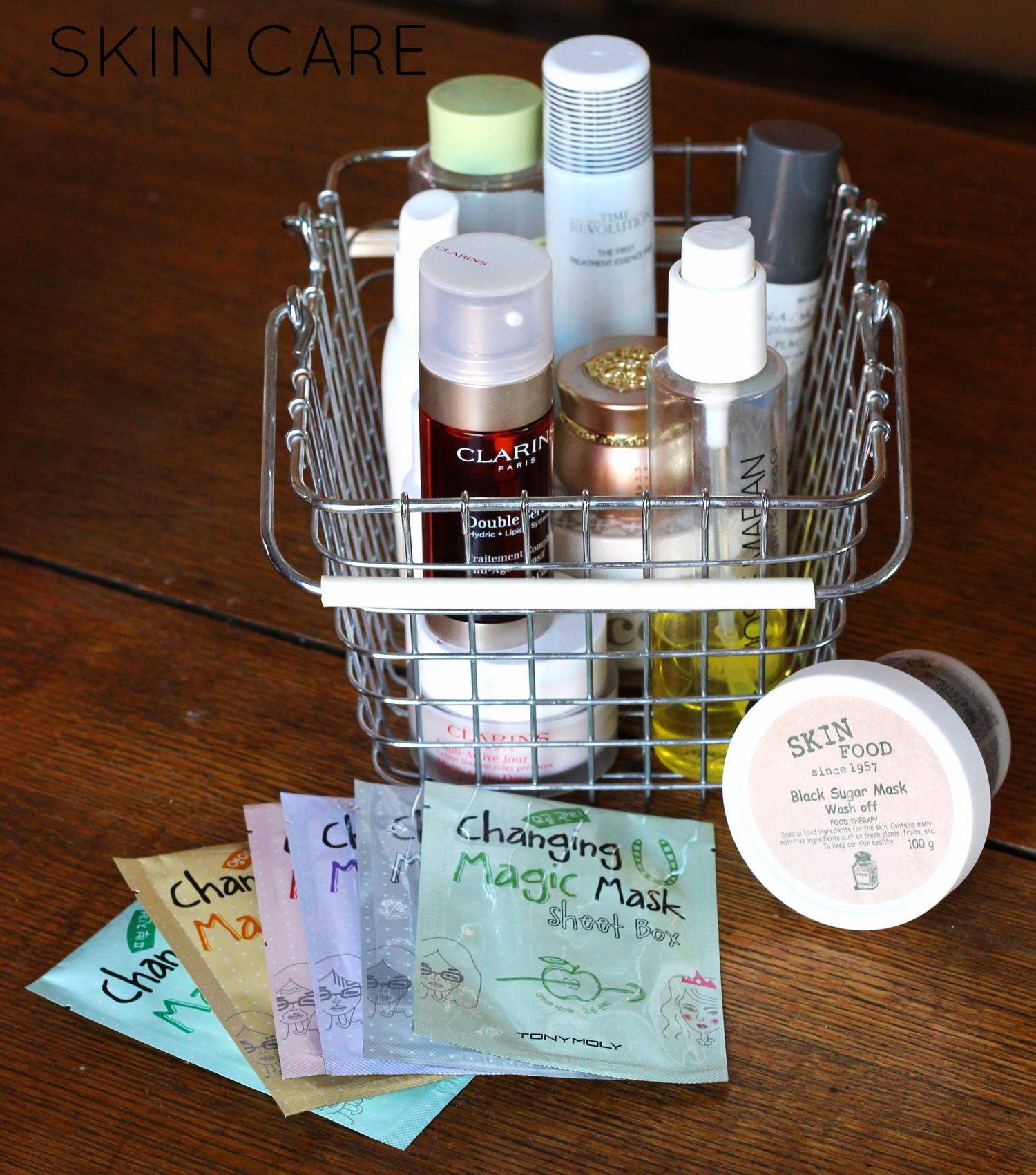 Skin care storage on belle meets world blog