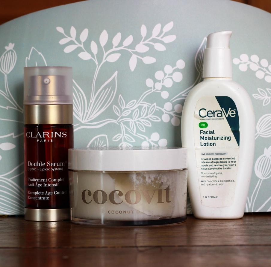clarins serum plus night moisturizer on belle meets world blog