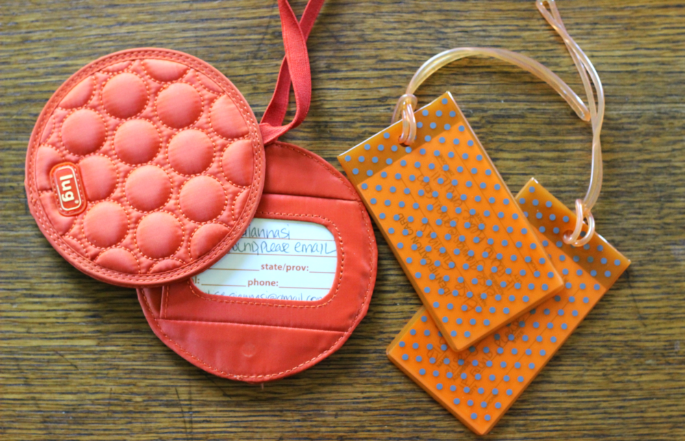 bright luggage tags on belle meets world blog