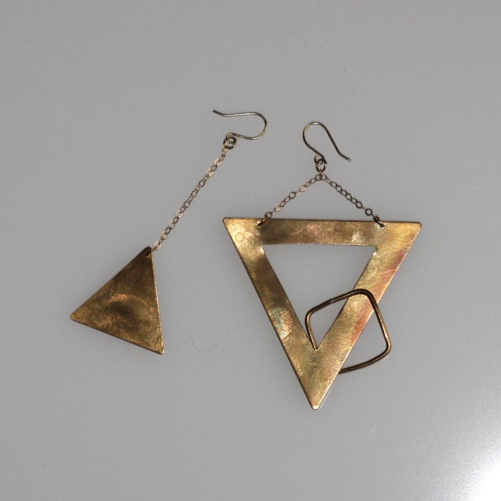 handmade earrings on belle meets world blog