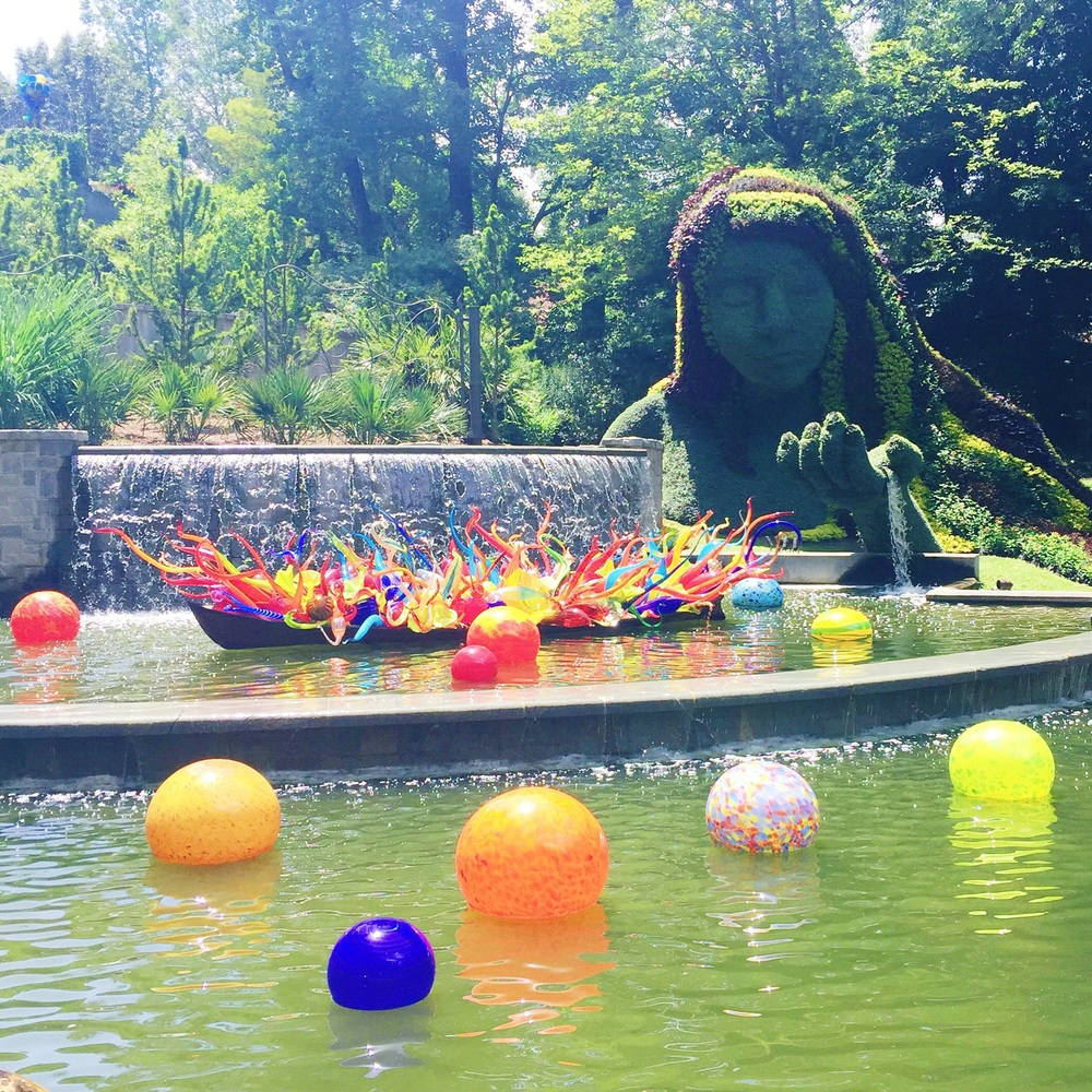 Atlanta Botanical Gardens visit - the Chihuly exhibit is out of this world!
