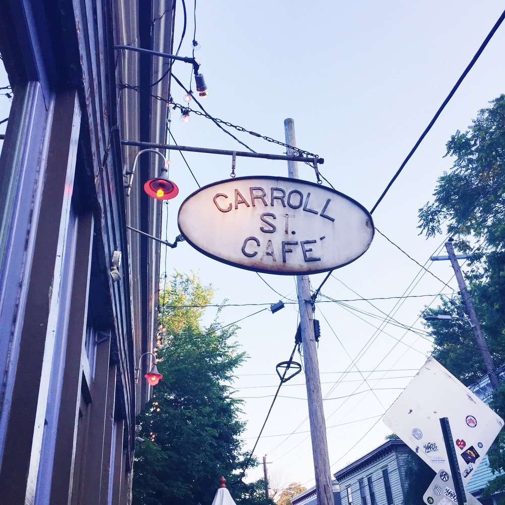 Carroll Street Cafe is one of our new favorite places, right near our new apartment!